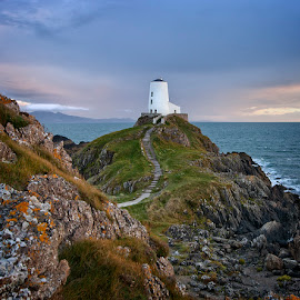 A storm approaches Llandwyn by Ian Pinn - Landscapes Mountains & Hills ( clouds, wales, anglesey, storm, rocks, coast )
