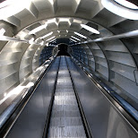 escalators in the atomium in Brussels, Brussels, Belgium