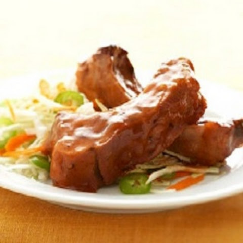 Crockpot Barbecued Pork Ribs