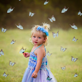 butterfly child by Wendy Berning - Digital Art People ( child, butterfly, girl, todder, cute )
