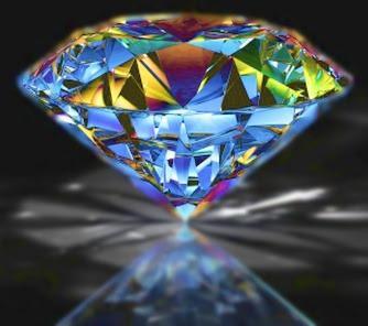 KRYSZTAŁOWY BLASK - diament światło klejnot