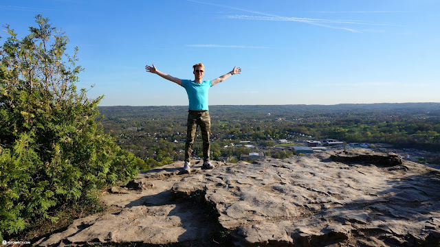 standing tall at Dundas Peak near Hamilton, Ontario in Dundas, Ontario, Canada