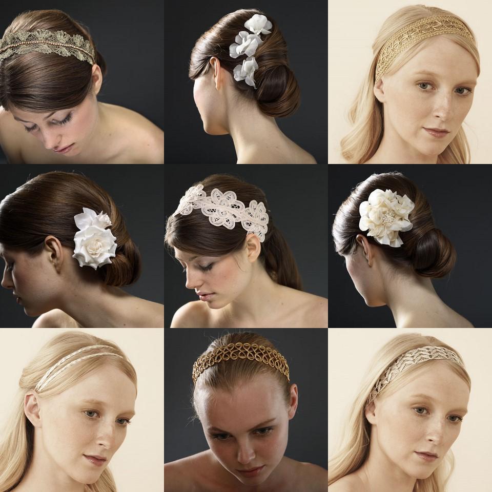 romantic hair accessories.