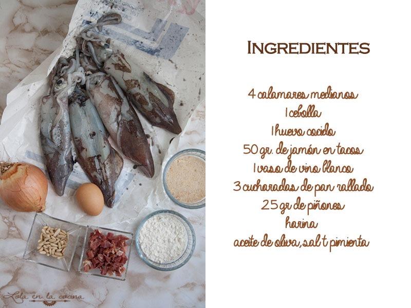 calamares-rellenos-ingredientes