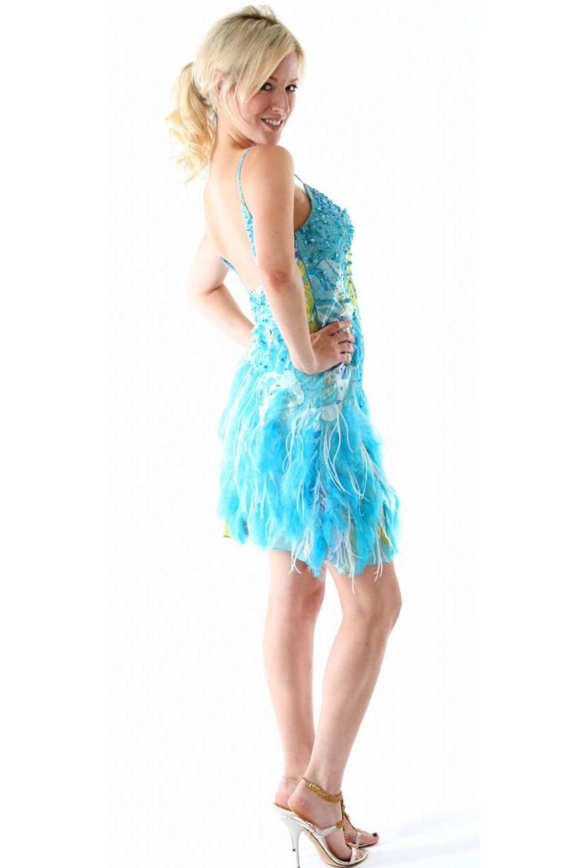Silk Beaded Ostrich Feather