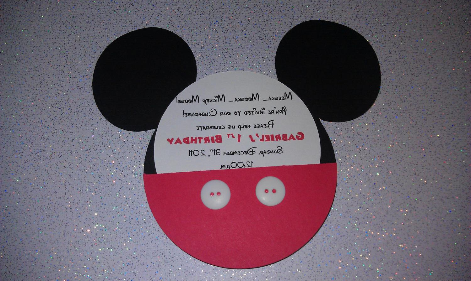 Handmade Mickey Mouse