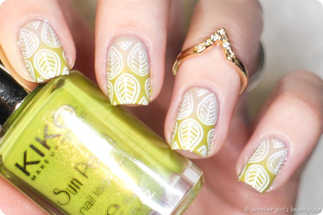 Frischlackiertchallenge Federn Gradient Stamping Moyou Kiko Exotic Leaves Feathers-3