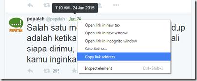 copy alamat status