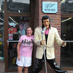 Lori and Elvis in downtown Nashville TN 09032011