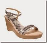 Unisa snake print wedge sandal