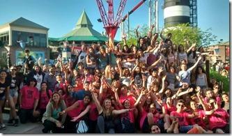 Más de 450 chicos disfrutaron del viaje al Parque de La Costa
