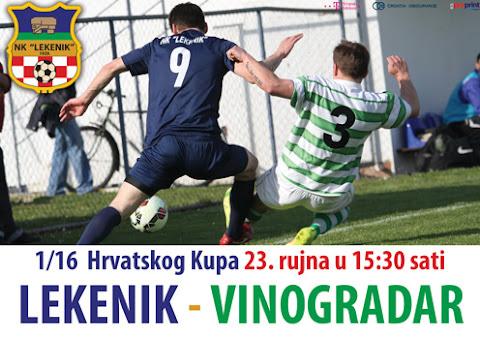 Post image for 1/16 kup Hrvatske: U srijedu Lekenik – Vinogradar