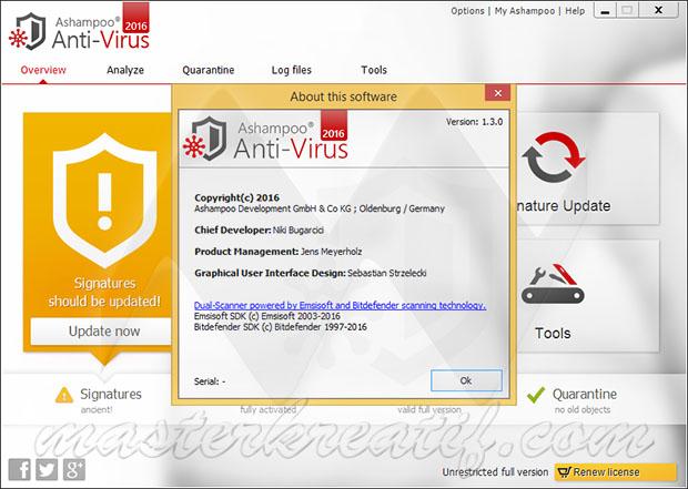 Ashampoo Anti-Virus 2016