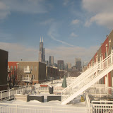 The Chicago skyline seen from the Amtrak window 01142012c