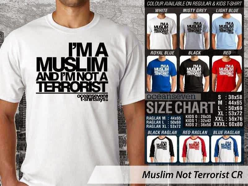 KAOS Muslim Islam Muslim Not Terrorist distro ocean seven