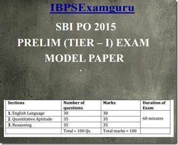 SBI PO Preliminary Model Paper 1