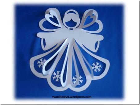 tarejta de navidad angel relieve (2)