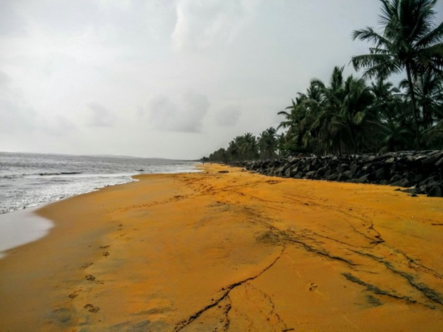 Remote stretch of Kappad Beach, Kozhikode, Kerala