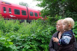 Otto var fuldstændig betaget af de mange S-tog der kom susende forbi...