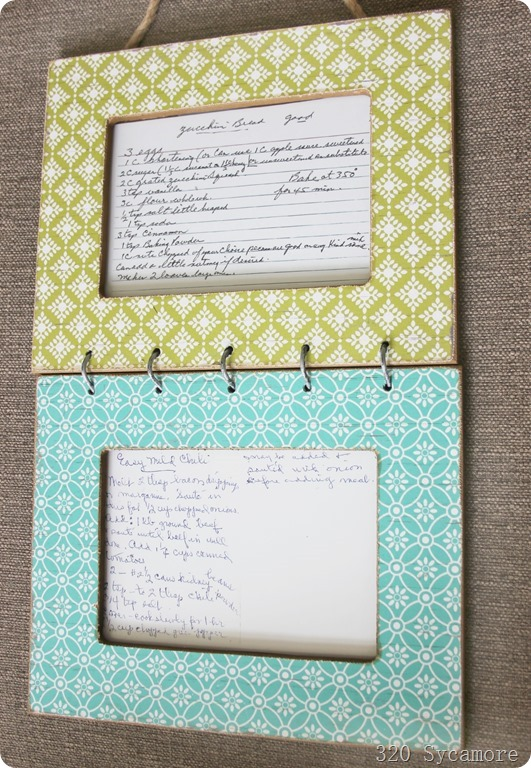 grandma's recipes framed