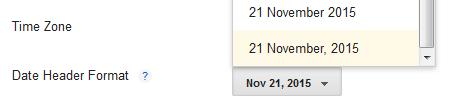 Date header formats