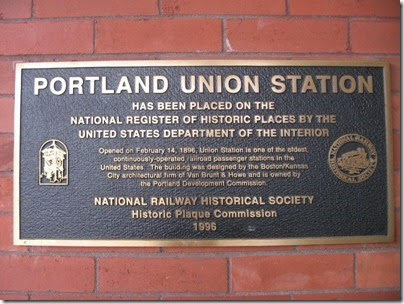IMG_6672 Plaque at Union Station in Portland, Oregon on May 27, 2007