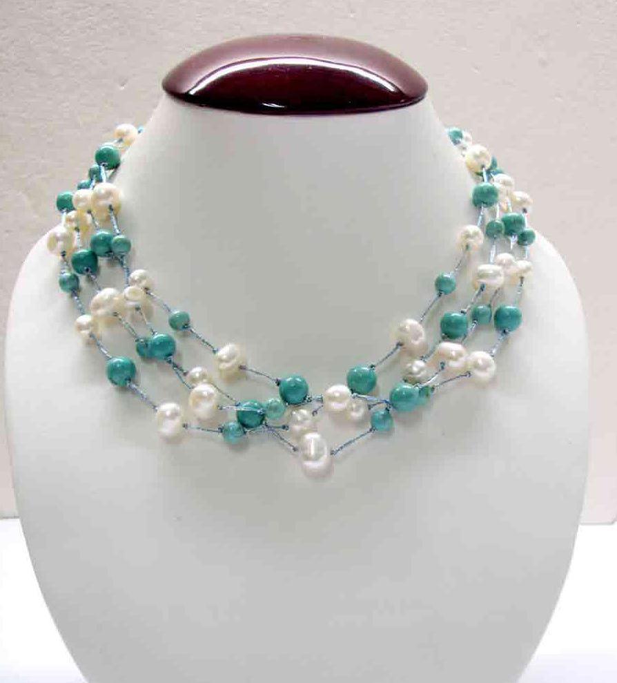 Turquoise & White Freshwater