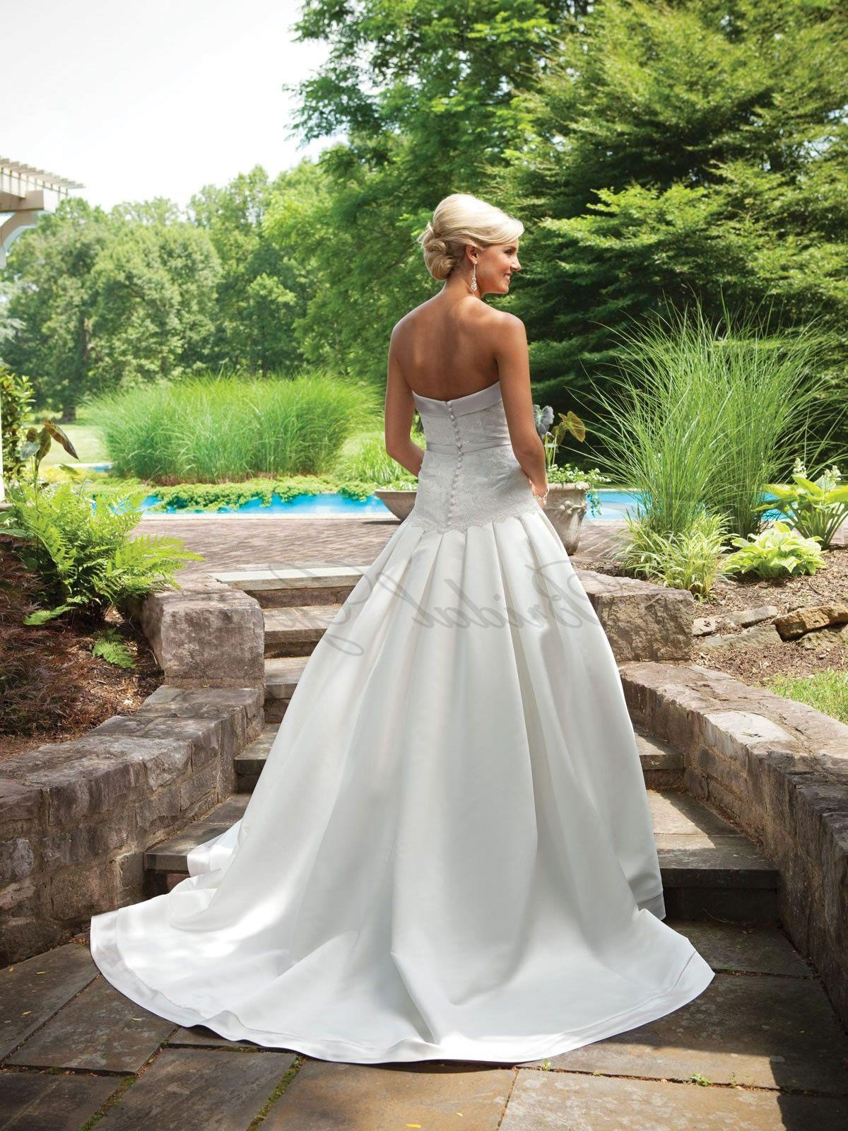 Ball Gown Satin Lace Dropped