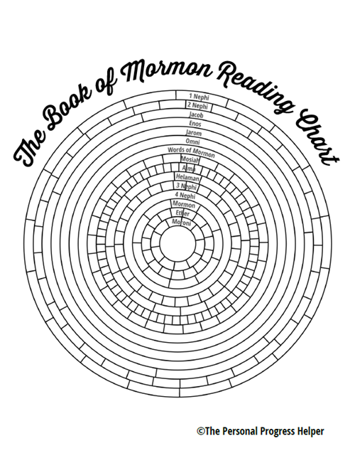 The Book of Mormon Reading Chart in Black & White