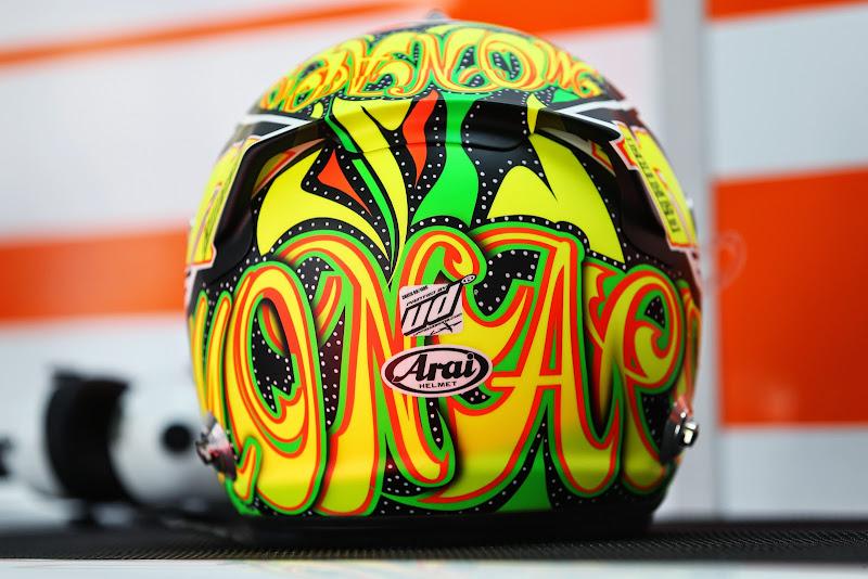 шлем Серхио Переса для Гран-при Монако 2014