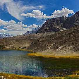 Borith Lake by Riaz Paras - Landscapes Mountains & Hills ( pakistan, hills, mountains, borith-lake, lake, hunza, riazparas, beautiful-lake,  )