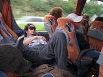 aw...poor guy's all tuckered out...and spread out too, into 3 seats