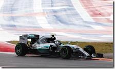 Nico Rosberg nelle prove libere del gran premio degli Stati Uniti 2015