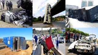 Accidents de la circulation: 64 morts et 411 blessés en une semaine
