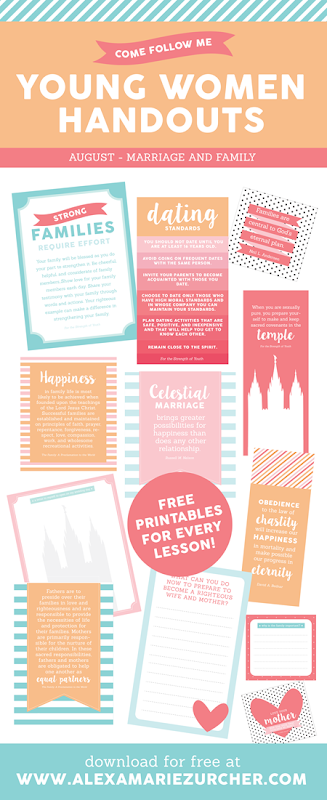 Free Young Women Lesson Handouts August