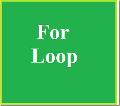 for-loop