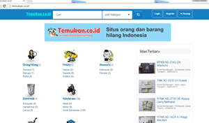 website mencari barang hilang
