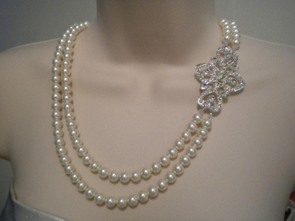 Wedding Necklace, Art Deco,