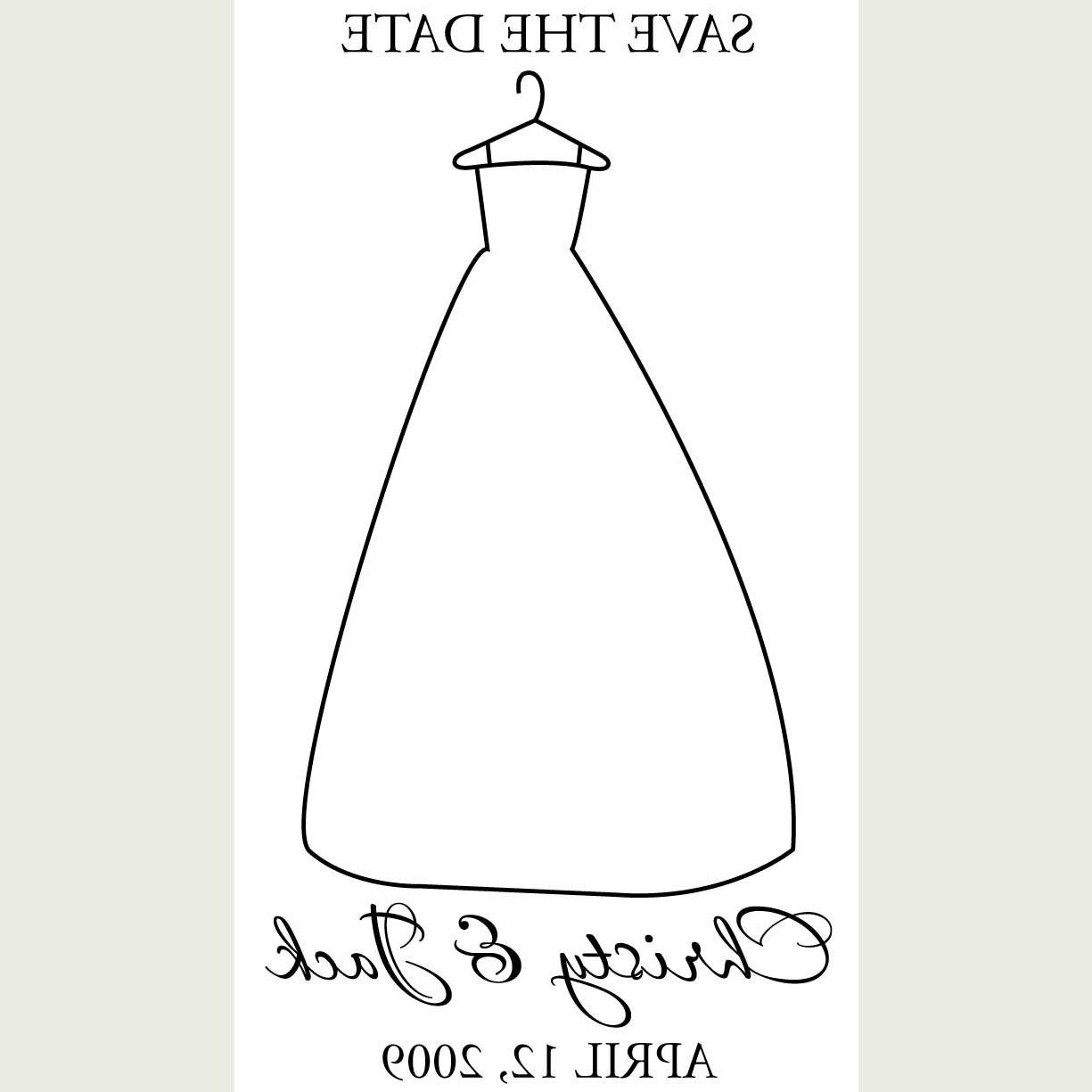 Date Wedding Dress Stamp