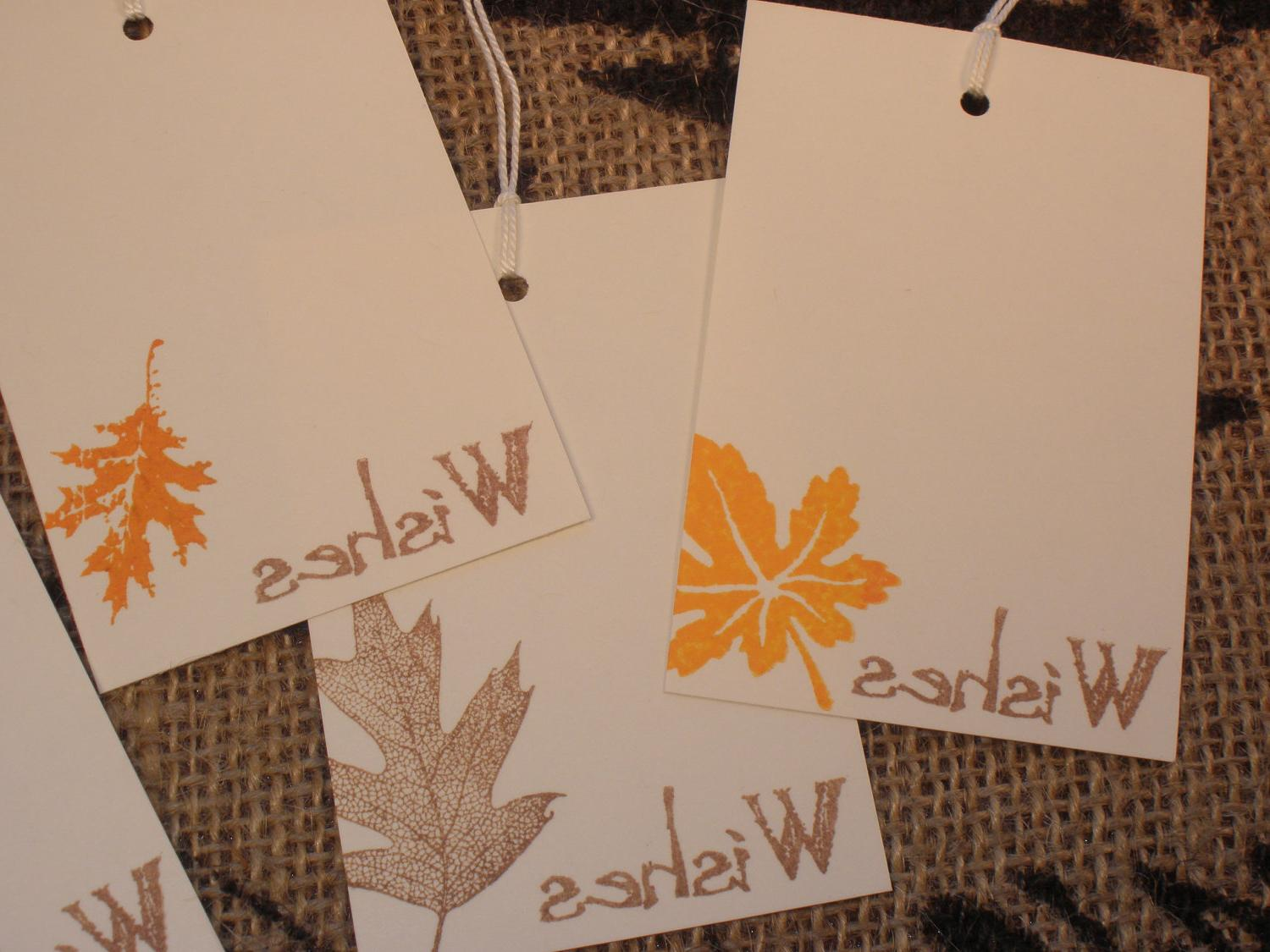 50 Falling Leaves Autumn Wedding Wish Tree Tags. From LazyDayCottage