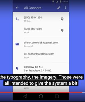 Detrás de la idea de Material Design, la interfaz dinámica de Android