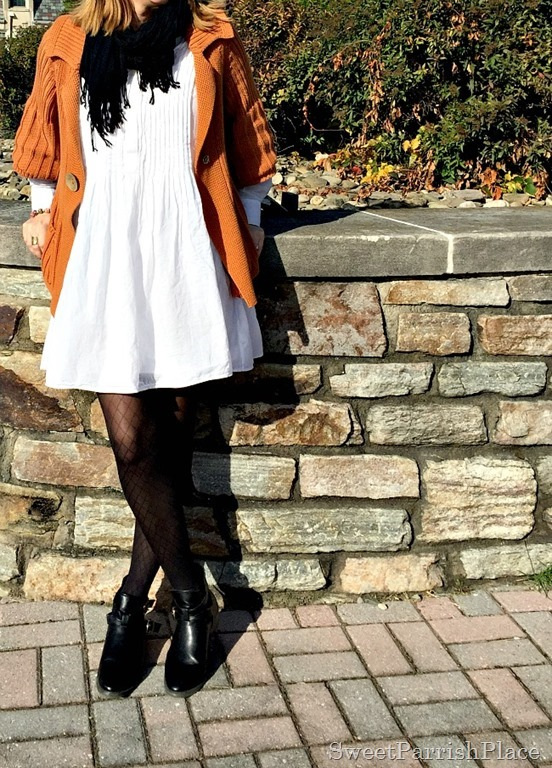 white-dress-orznge-chunky-swezter-black-tights-booties-2