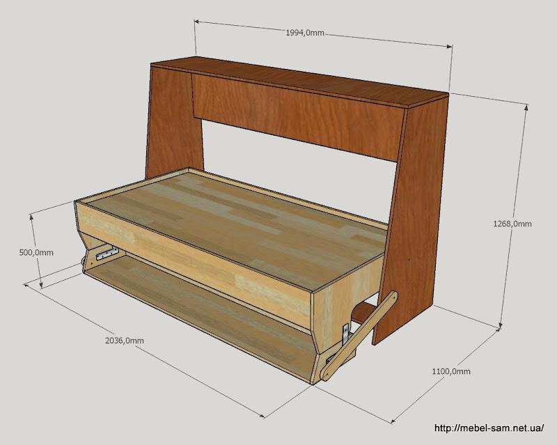 Как сделать кровать стол трансформер своими руками 71