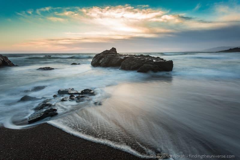 Sunset on the Cambrian coast California 6