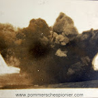 Explosion of the 38cm shell from HMS Erebus