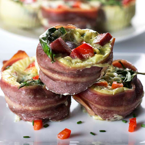 Healthy Egg Muffins With Lean Turkey Bacon