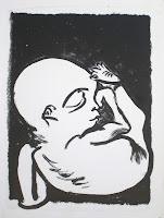 Dej BAO. 045 . Un Chemin dans la Pierre . 1977 .Lithographie . 36,5 x 27,5 cm