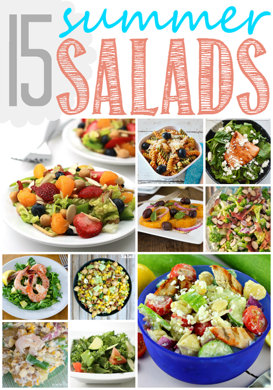 15 Summer Salads at GingerSnapCrafts.com #salads #recipes