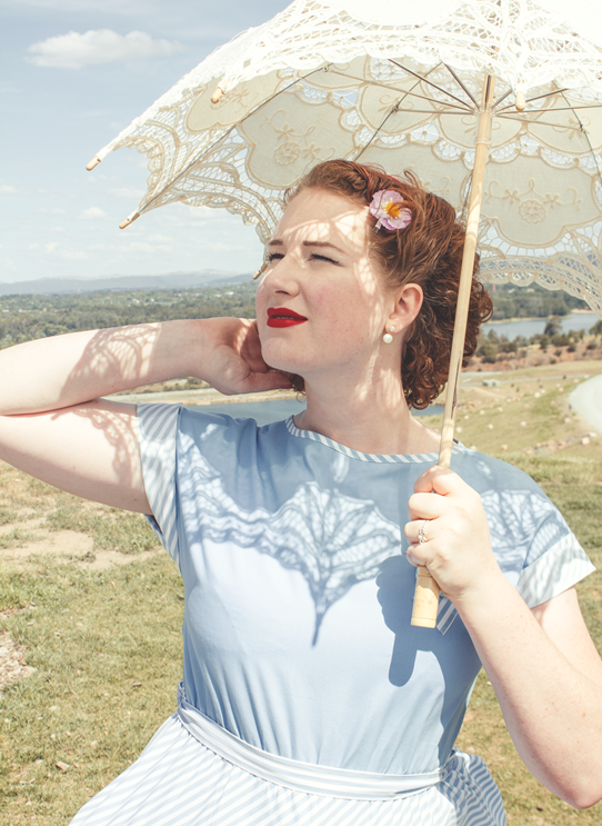 A sweet 1950's summer look | Lavender & Twill