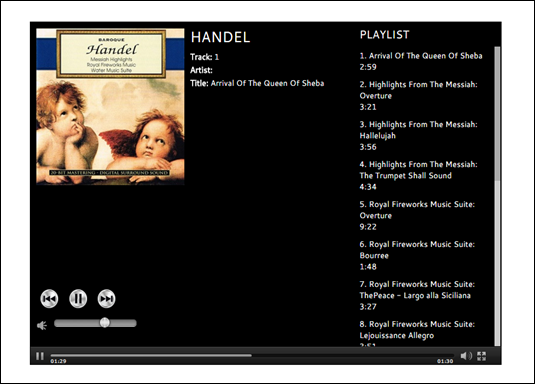 Handel's Playlist from SmartKidz Media